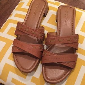 New Coach brown sandals shoes